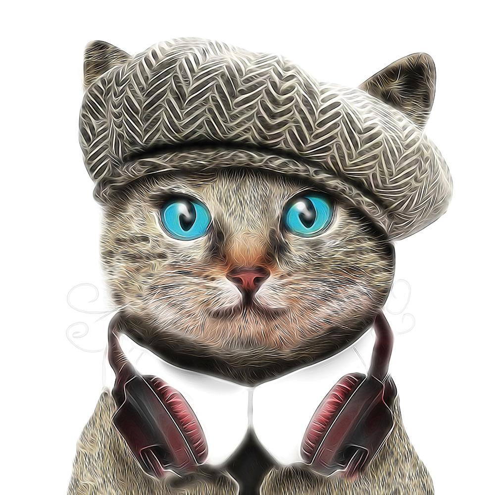 Картина на стекле декоретто кот джентельмен