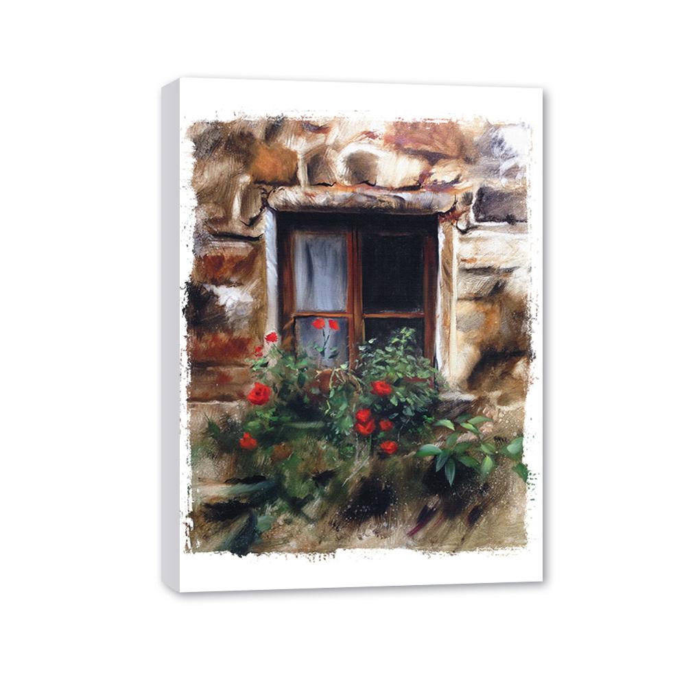 Канвас декоретто цветы на окошке cv 6016 декор