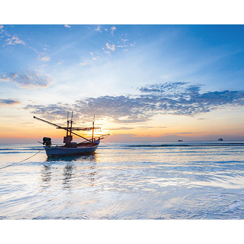Картина на стекле декоретто вечернее море
