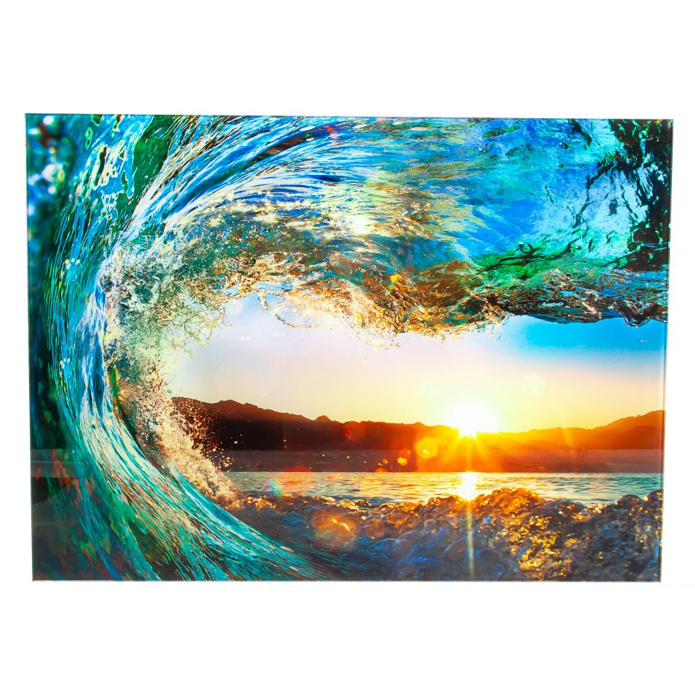 Купить Картина на стекле декоретто морской прибой gs 8004 декор