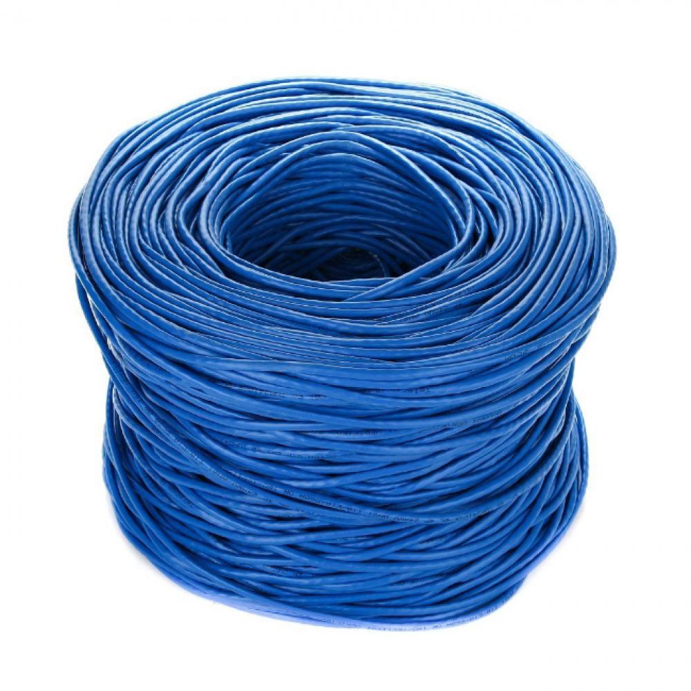 Кабель telecom ultra utp категория 5е, многожильный, бухта 305м, синий tum34702e-bl
