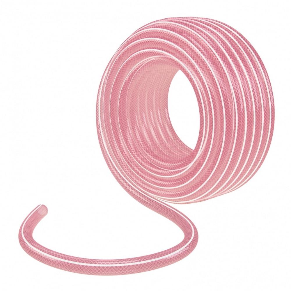Купить Эластичный шланг palisad 3/4 , 50 м, прозрачный, розовый 67676