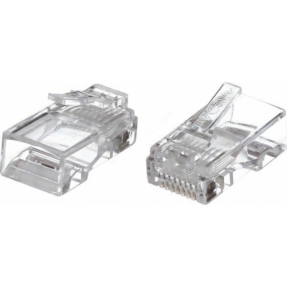 Коннекторы vcom rj-45 /8p8c/ для utp кабеля, 5 категории / упаковка 100 шт./ vna2200-1/100