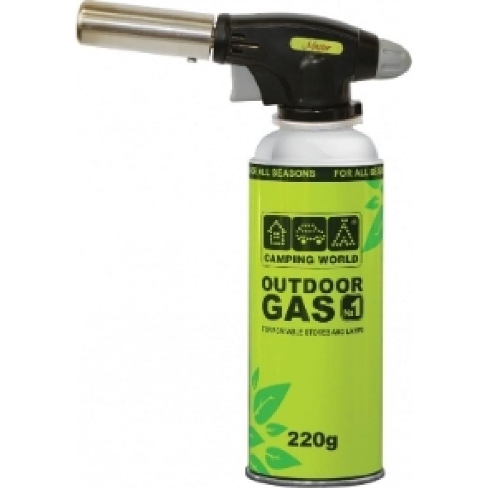 Газовая паяльная лампа camping world master pro 138244