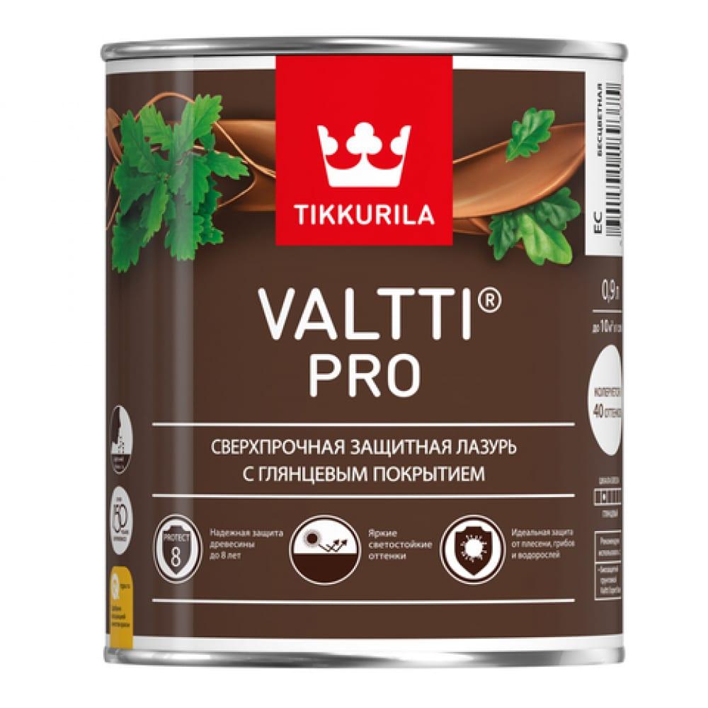 Купить Лазурь tikkurila valtti pro сверхпрочная, защитная, глянцевая, орегон 0, 9л 700010339