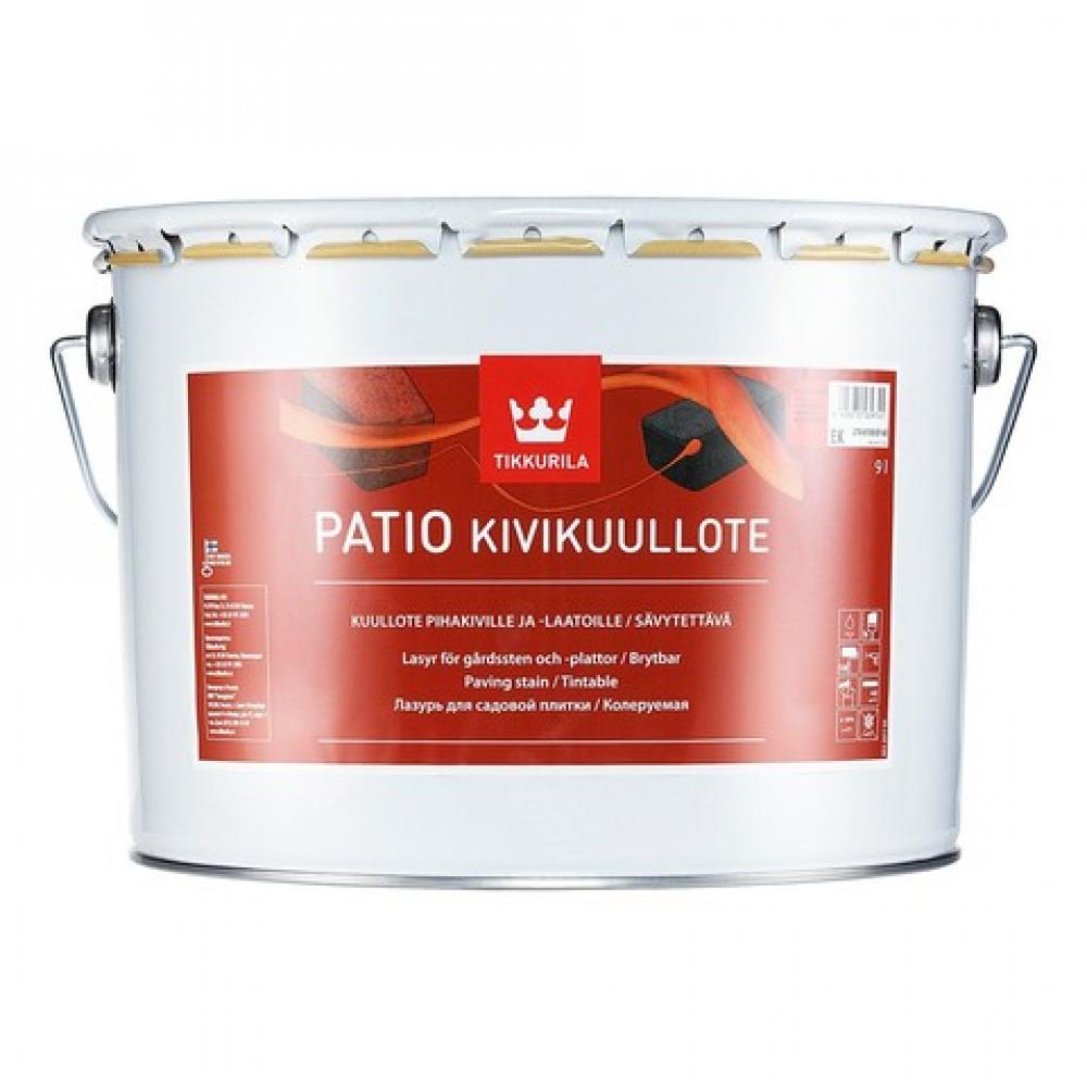 Купить Лазурь tikkurila patio колеруемая для садовой плитки, бетона и камня 9л 27v61000160