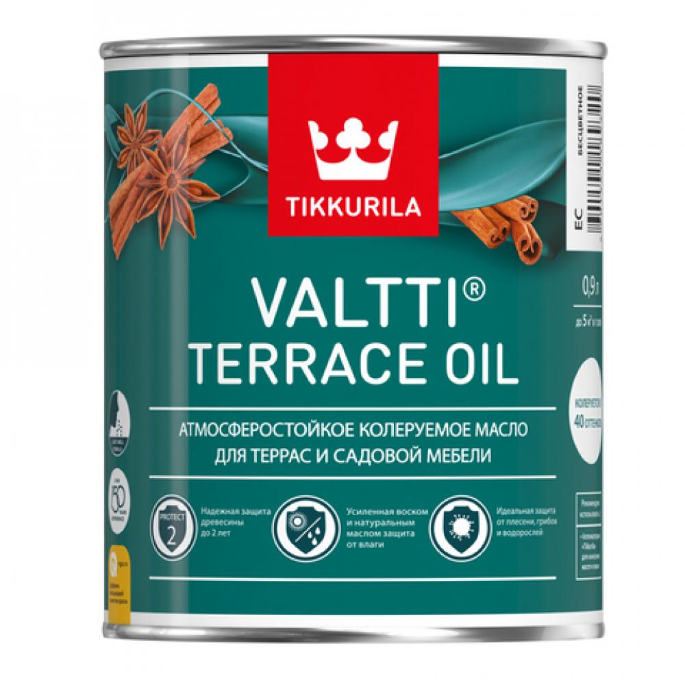 Масло для террас и садовой мебели tikkurila valtti terrace oil бесцветный 0,9л 700010363