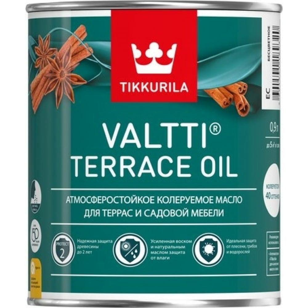 Масло tikkurila valtti terrace oil для террас и садовой мебели, бесцветный 9л 700010365