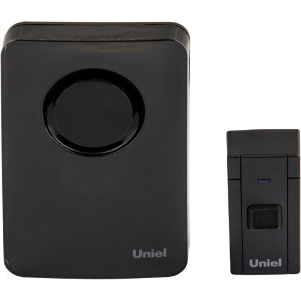 Электронный звонок uniel udb-092w-r1t1-36s-bl 220в, 36 мелодий, черный ul-00006437