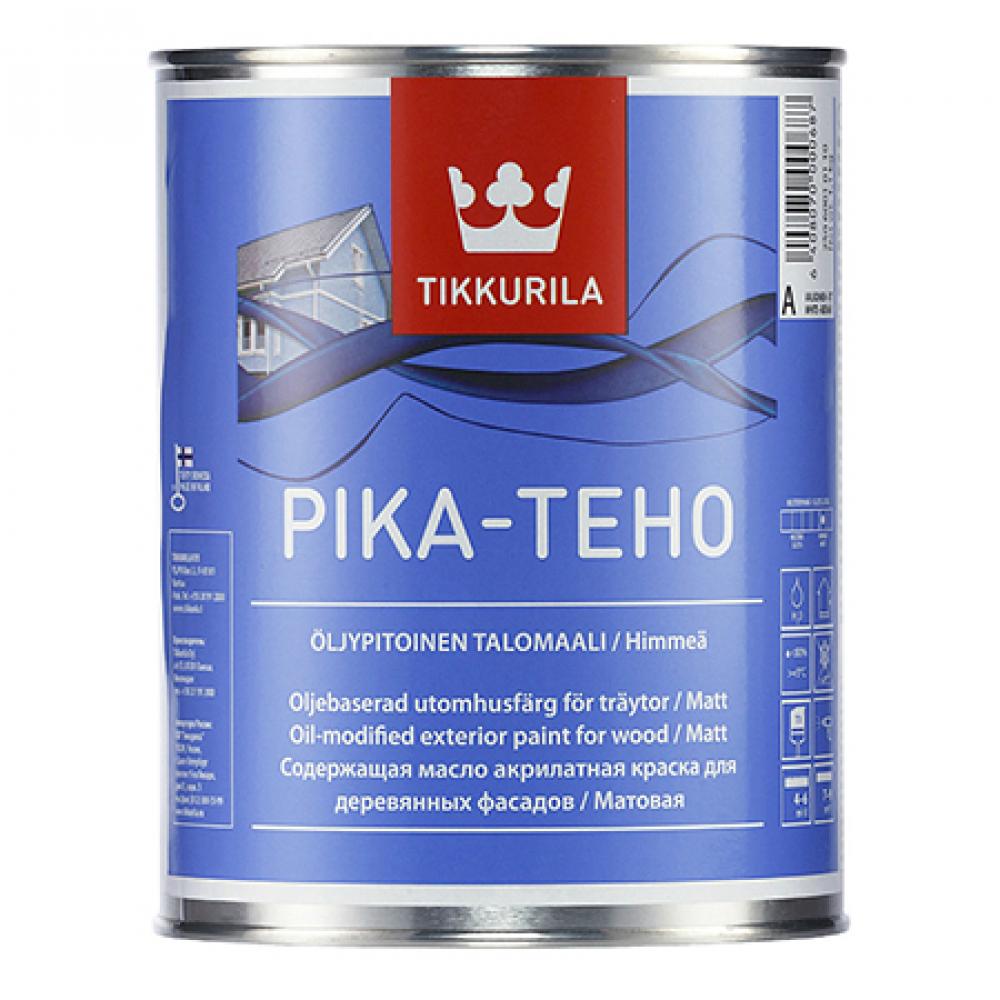 Купить Фасадная краска tikkurila pika teho акрилатная с добавлением масла, матовая, база a 9л 25060010160