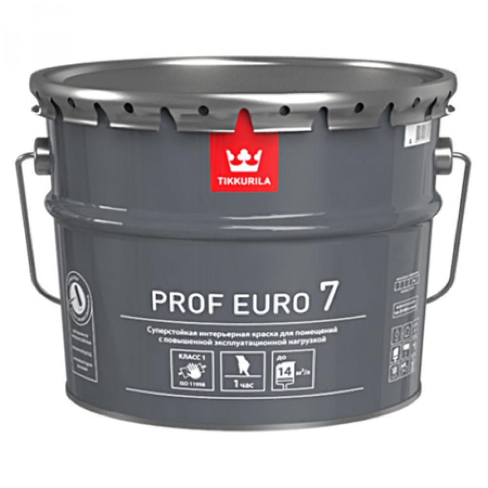 Купить Интерьерная краска tikkurila prof euro 7 суперстойкая, матовая, база a 18л* 700009638