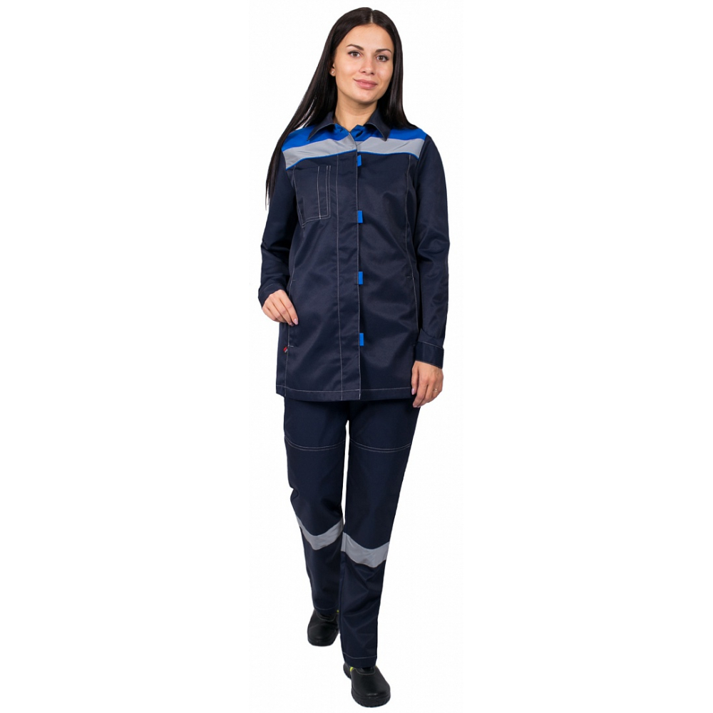 Купить Женский костюм факел весна-2 темно-синий/васильковый, р. 40-42, рост 170-176 87471189.012
