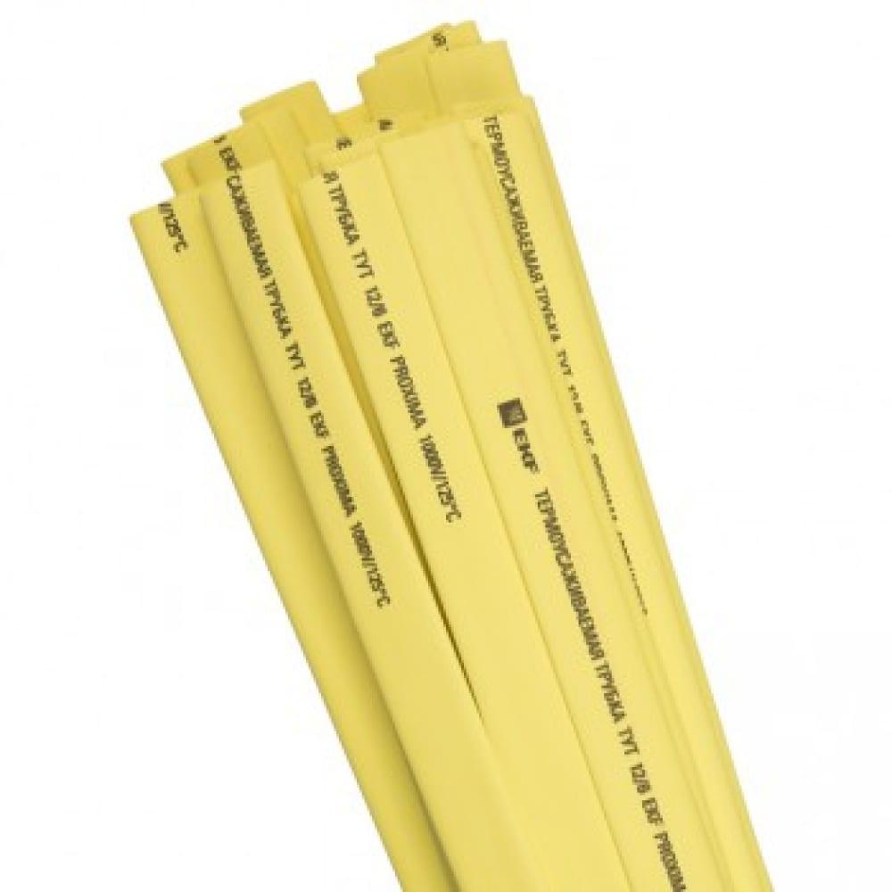 Термоусаживаемая трубка ekf тут, 16/8, желтая, в отрезках по 1м, proxima sqtut-16-y-1m