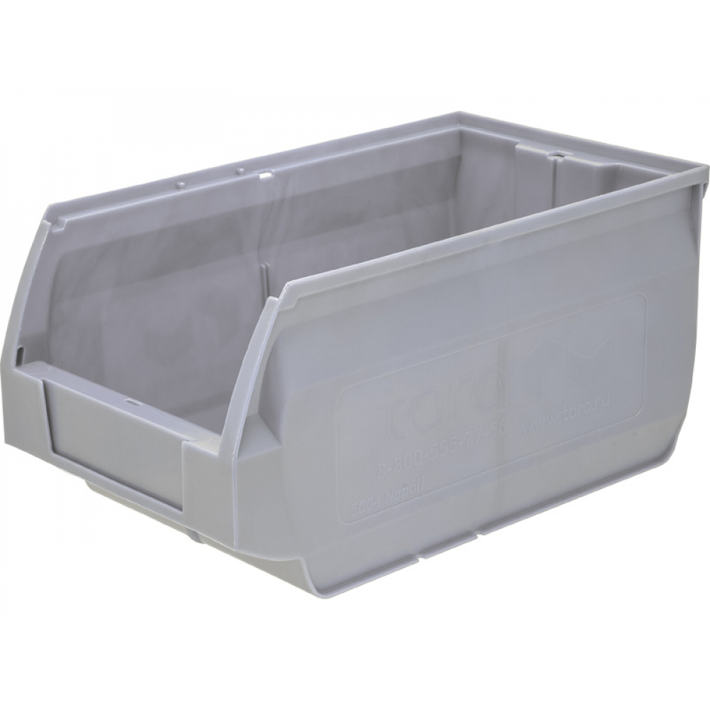 Ящик тара napoli 400х230х200 pp, темно серый