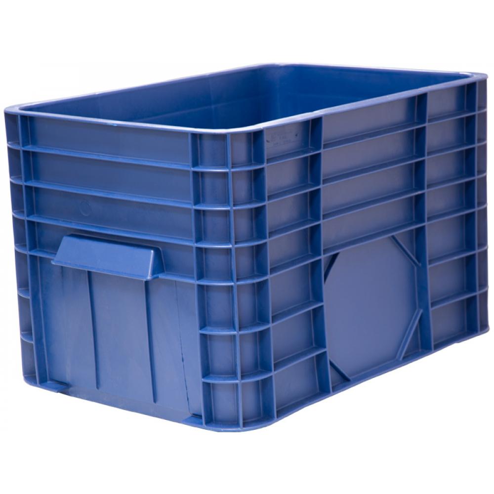 Ящик тара п/э 710х500х455 сплошной 120л синий