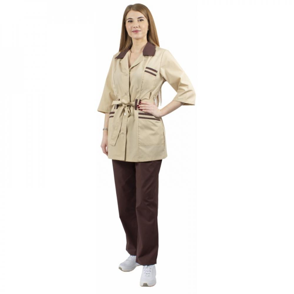 Купить Женский костюм факел лаура бежевый/коричневый, р. 64-66, рост 170-176 87474620.012