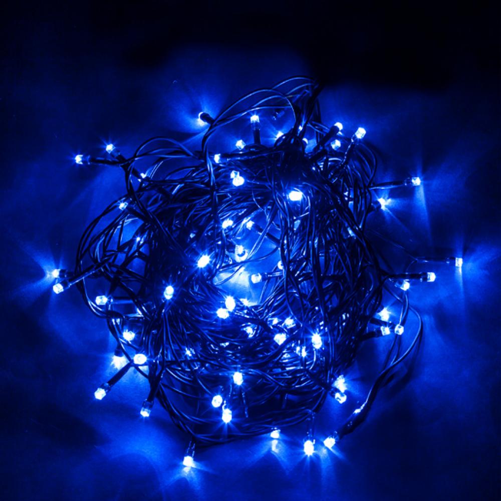 Купить Гирлянда feron 230v, 100 led, синий, ip 20, шнур 1.5м, cl05 32307