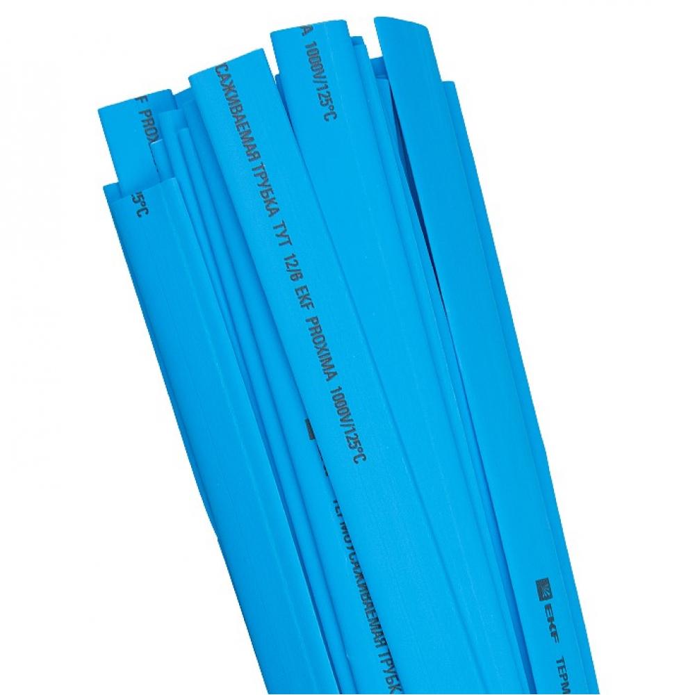 Термоусаживаемая трубка ekf тут 16/8 синяя в отрезках по 1м proxima sqtut-16-g-1m