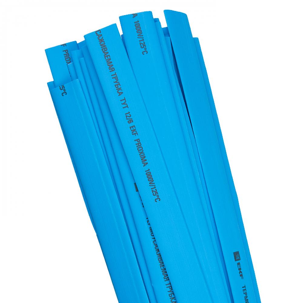 Термоусаживаемая трубка ekf тут 14/7 синяя в отрезках по 1м proxima sqtut-14-g-1m