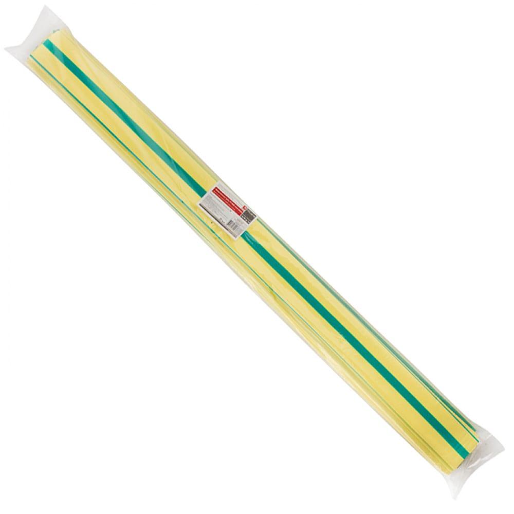 Термоусаживаемая трубка ekf тут 25/12,5 желто-зеленая в отрезках по 1м proxima sqtut-25-yg-1m
