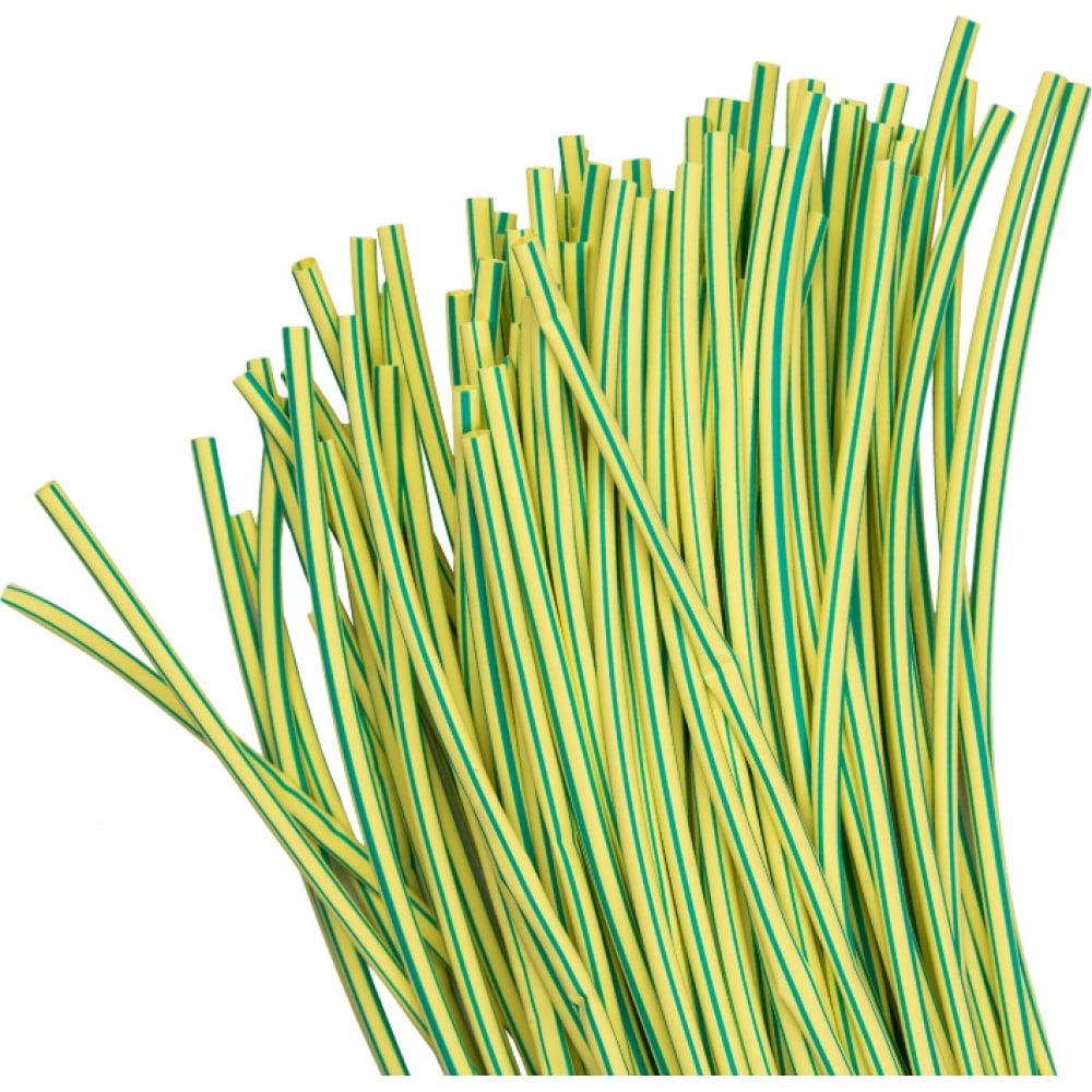 Термоусаживаемая трубка ekf тут 6/3 желто-зеленая в отрезках по 1м proxima sqtut-6-yg-1m