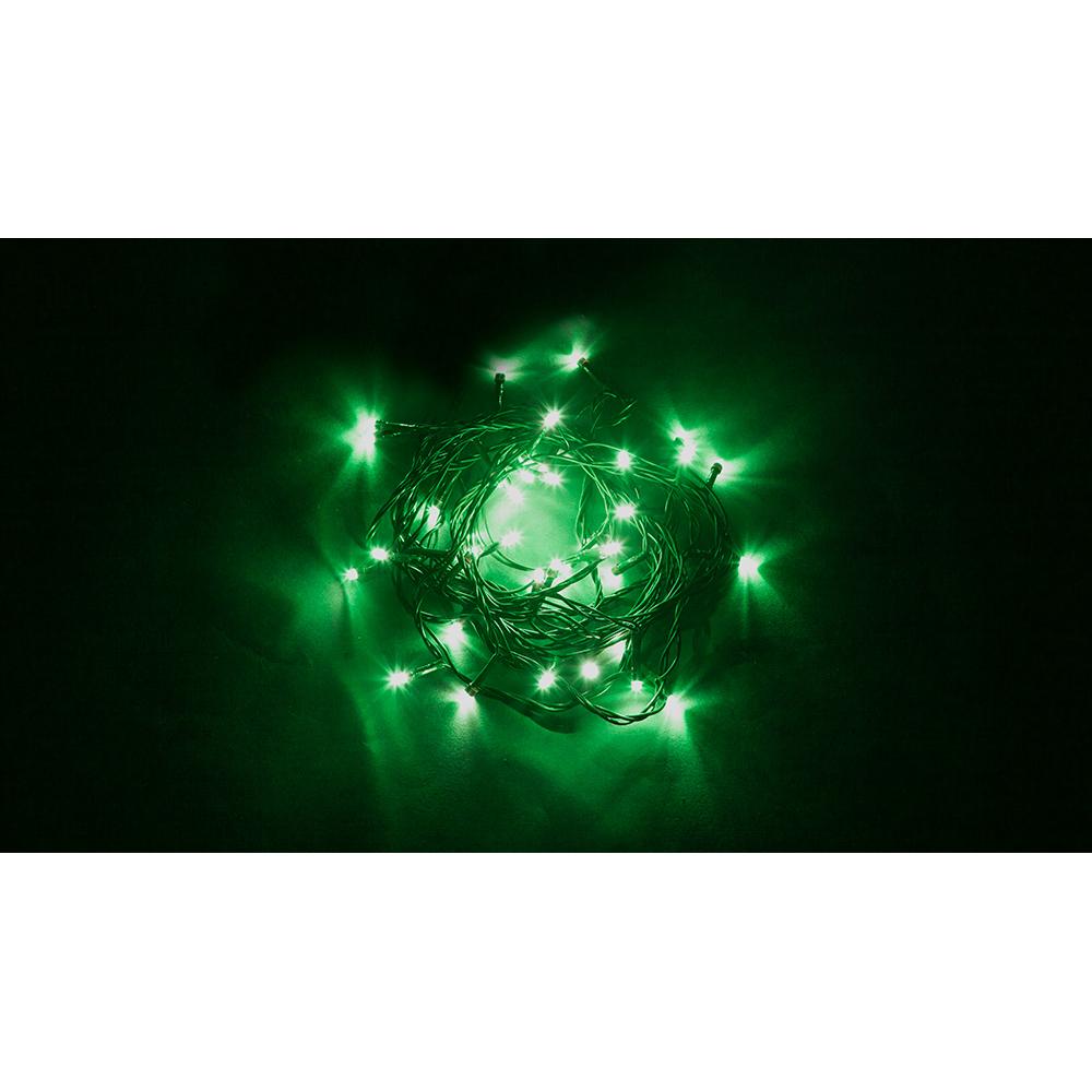 Купить Гирлянда feron 230v 60 led зеленый, ip 20, шнур 1.5м cl04 32299