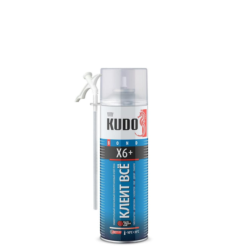 Купить Клей-пена универсальный монтажный всесезонный kudo клеит всё х6+ 650 мл 11601620