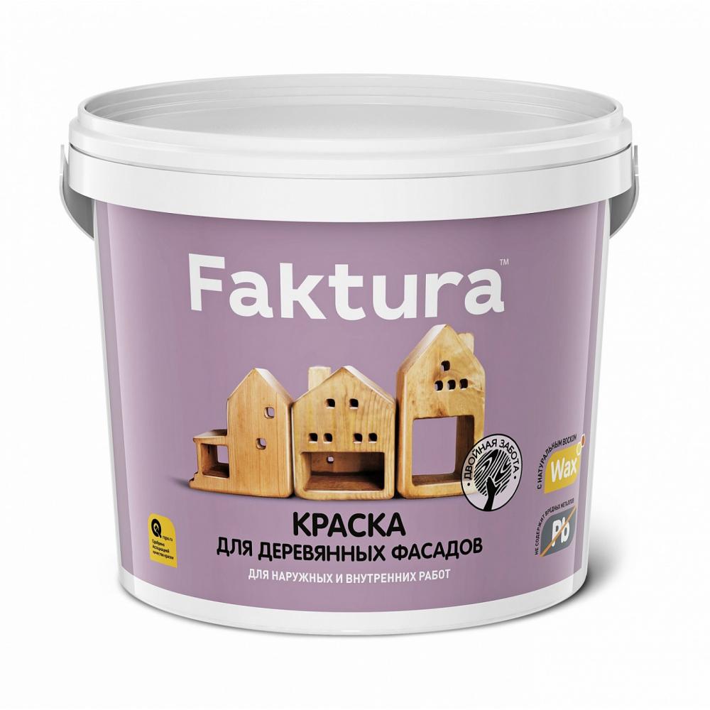 Акриловая краска faktura для деревянных фасадов