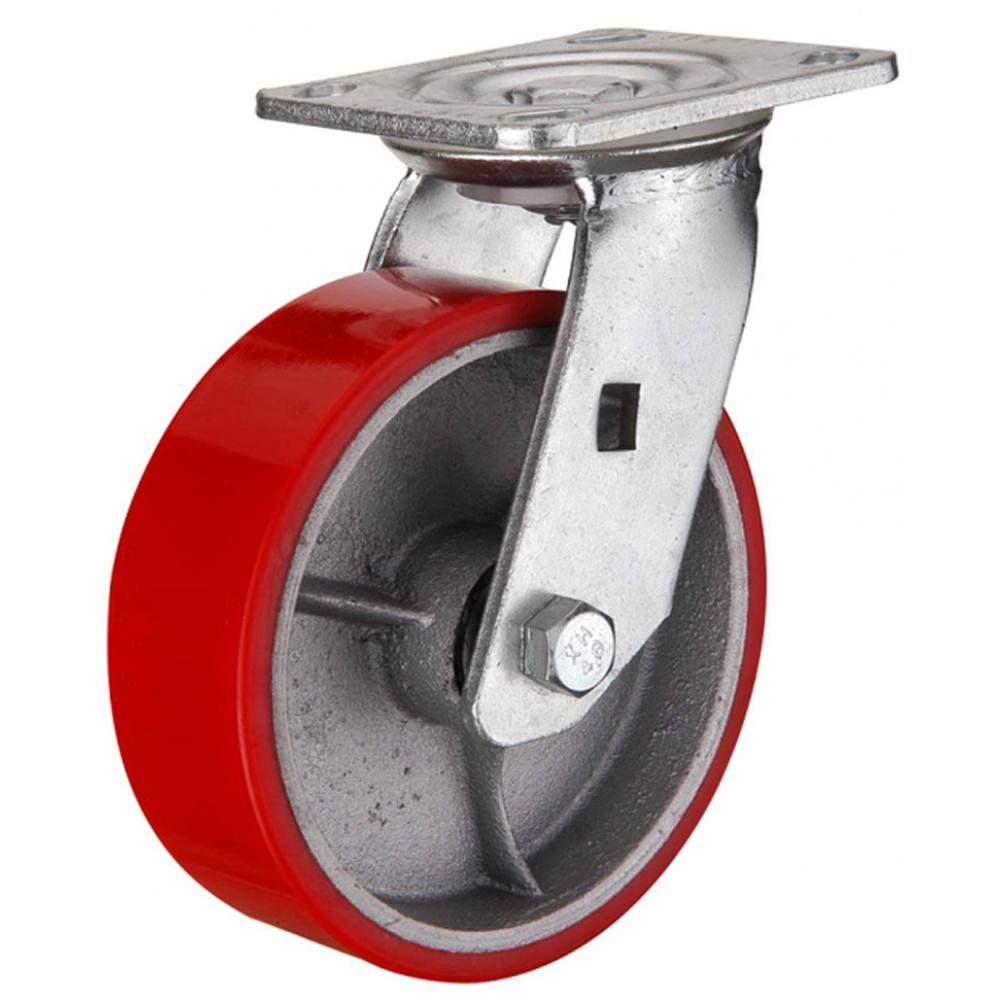 Колесо большегрузное полиуретановое поворотное scp63 160 мм mfk-torg 1043160