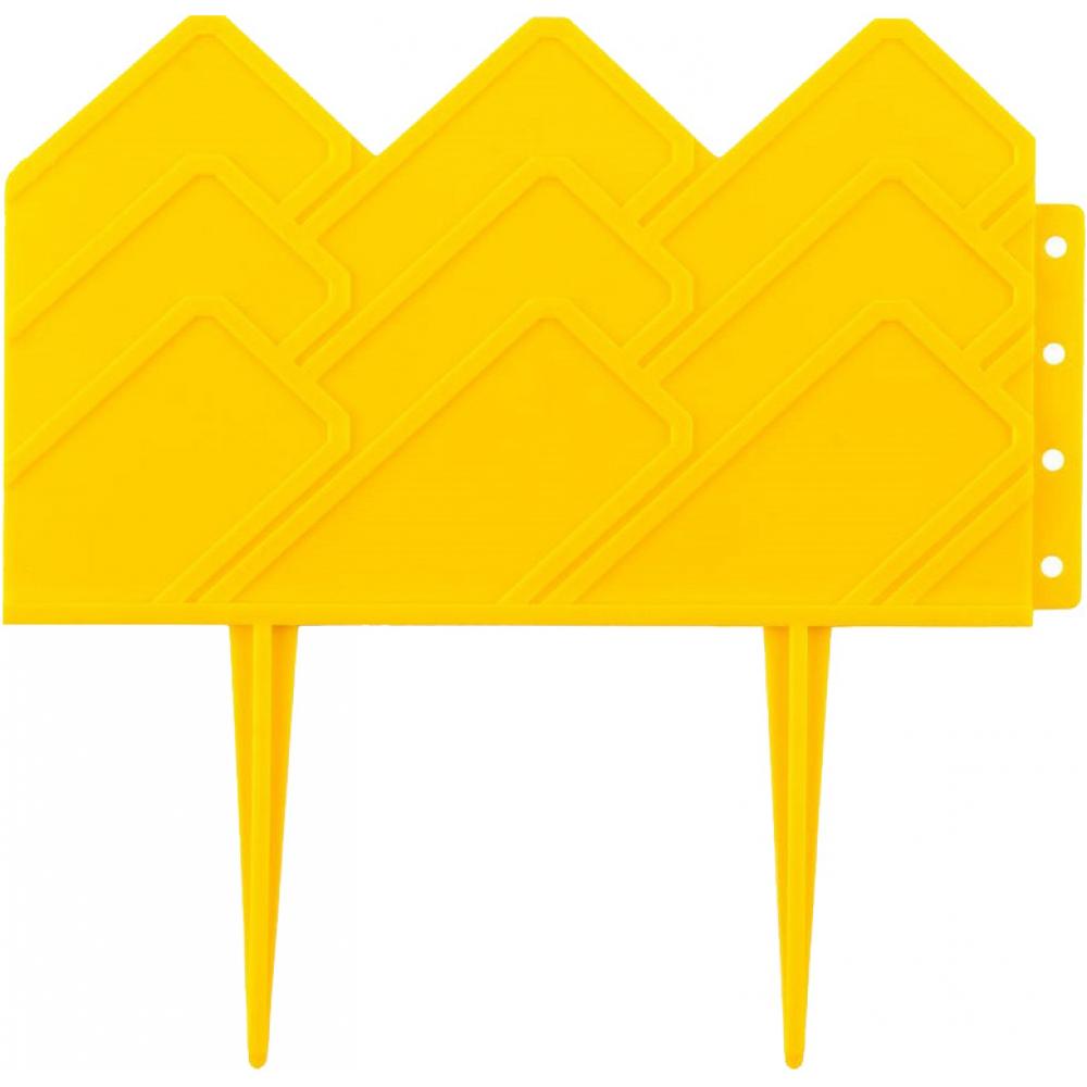 Купить Декоративный бордюр grinda для клумб 14x310 см желтый 422221-y