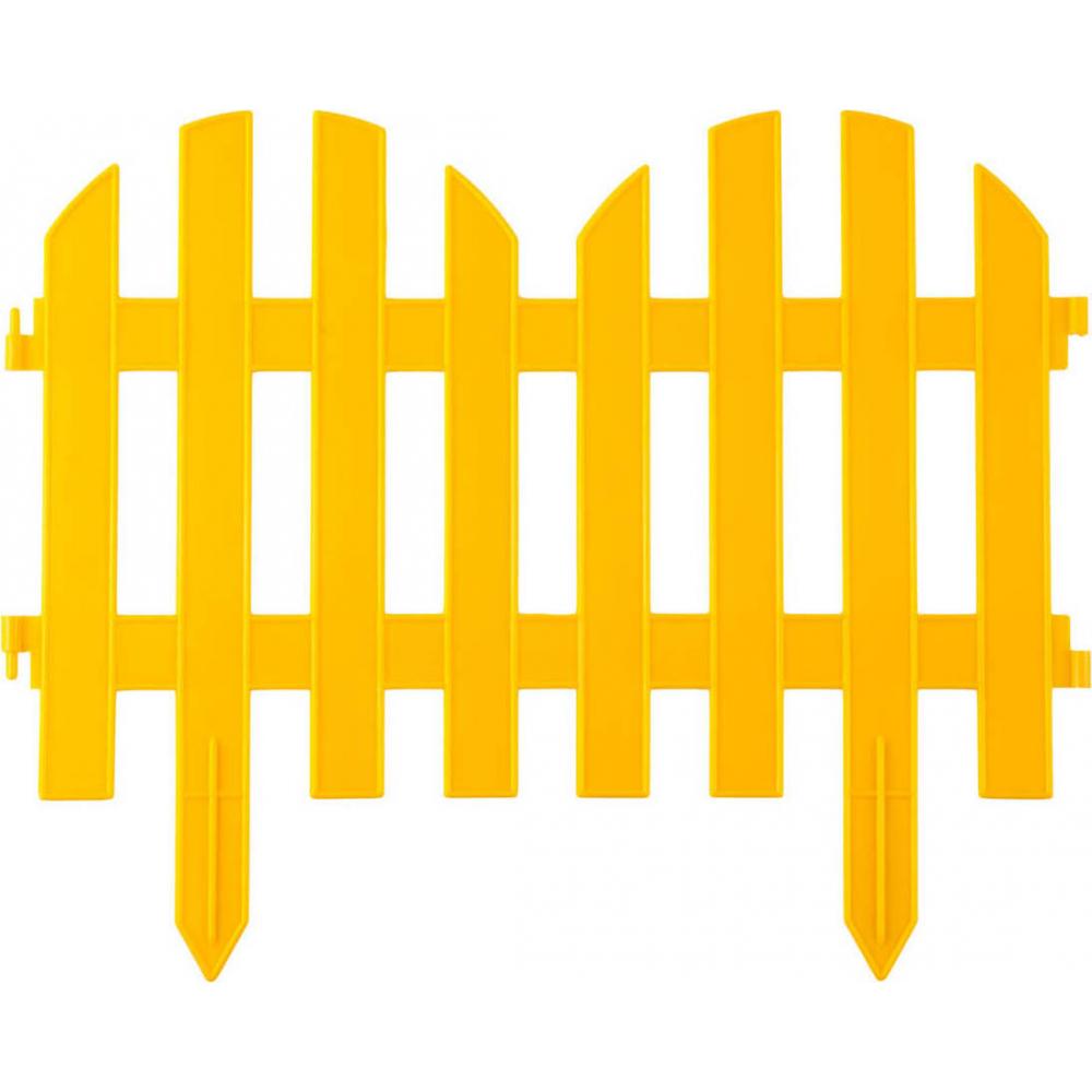 Купить Декоративный забор grinda палисадник 28x300 см желтый 422205-y