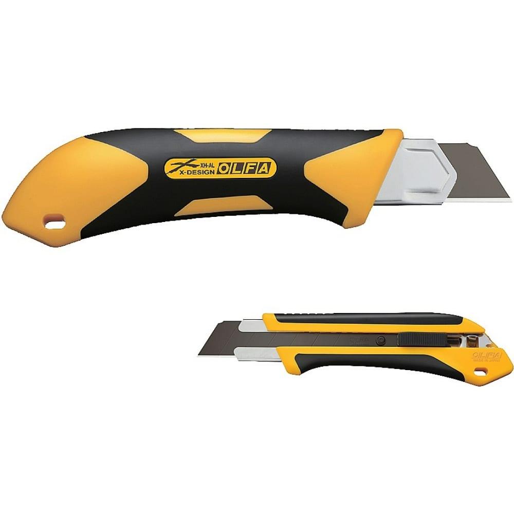 Купить Нож olfa autolock с выдвижным лезвием двухкомпонентный корпус 25 мм ol-xh-al