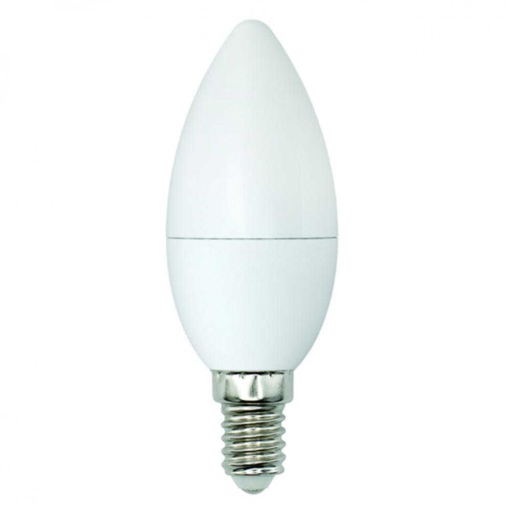 Светодиодная лампа uniel led-c37-6w/ww+nw/e14/fr plb01wh, форма «свеча», матовая ul-00001570