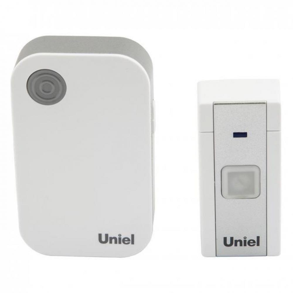 Электронный звонок uniel udb-091w-r1t1-36s-wh 220в, 36 мелодий, белый ul-00006436