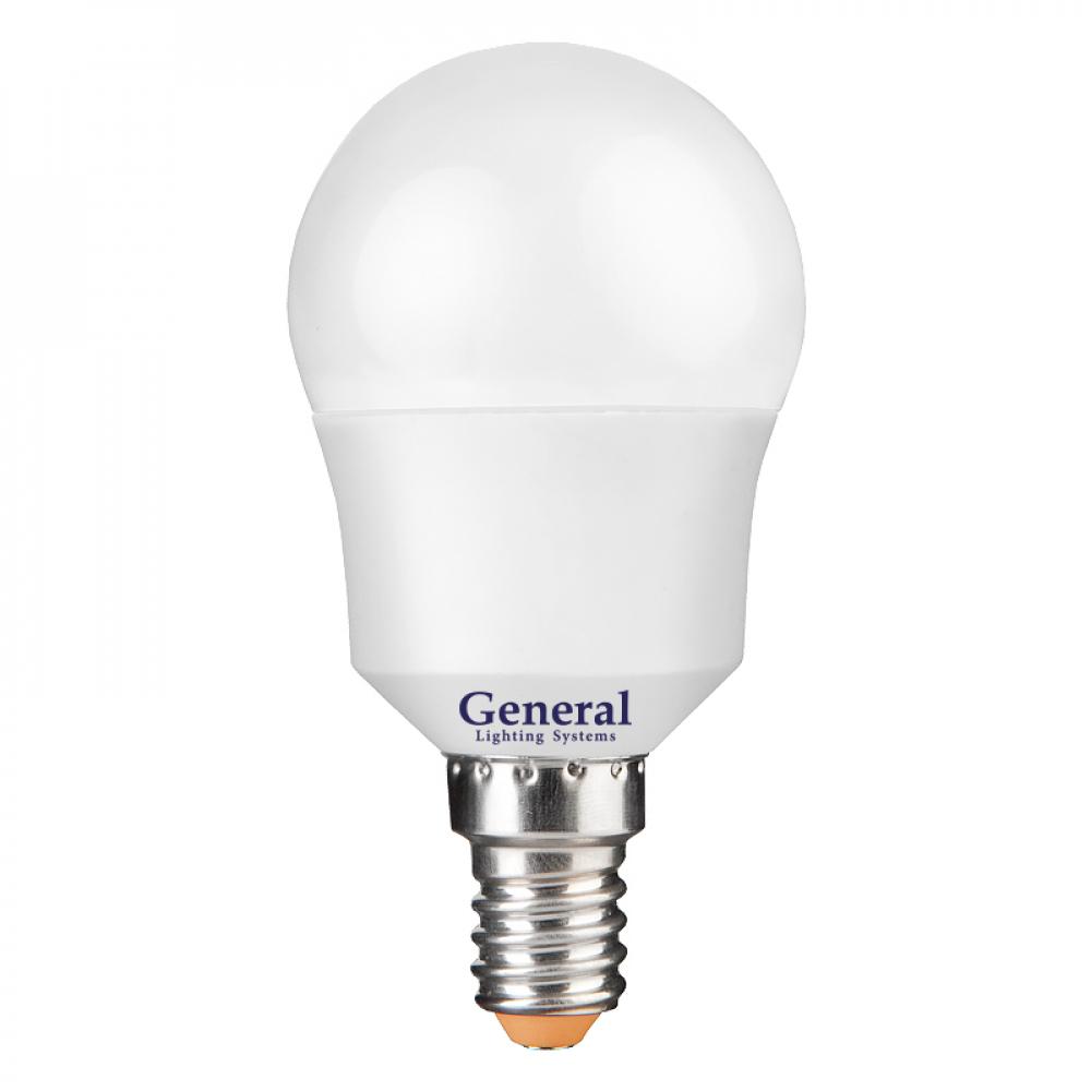 Светодиодная лампа general lighting systems шарик g45f-10w-e14-2700к 683300  - купить со скидкой