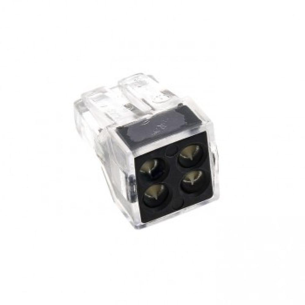 Строительно-монтажная клемма ekf смк 773-104, 4 отверстия, 1,0-2,5мм2, 4шт, proxima sq plc-smk-104r