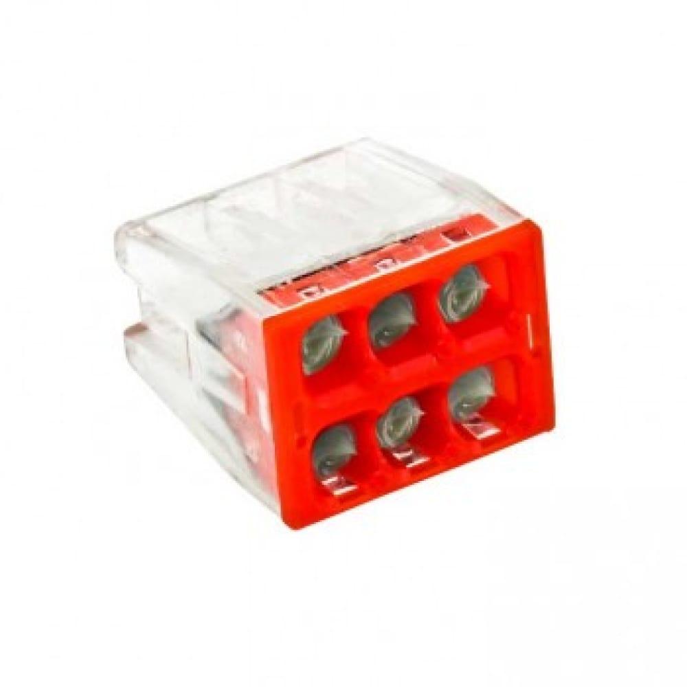 Клемма ekf смк 2273-246, с пастой, 6 отверстий, 0,5-2.5мм2, 4шт, proxima sq plc-smk-2273-246r