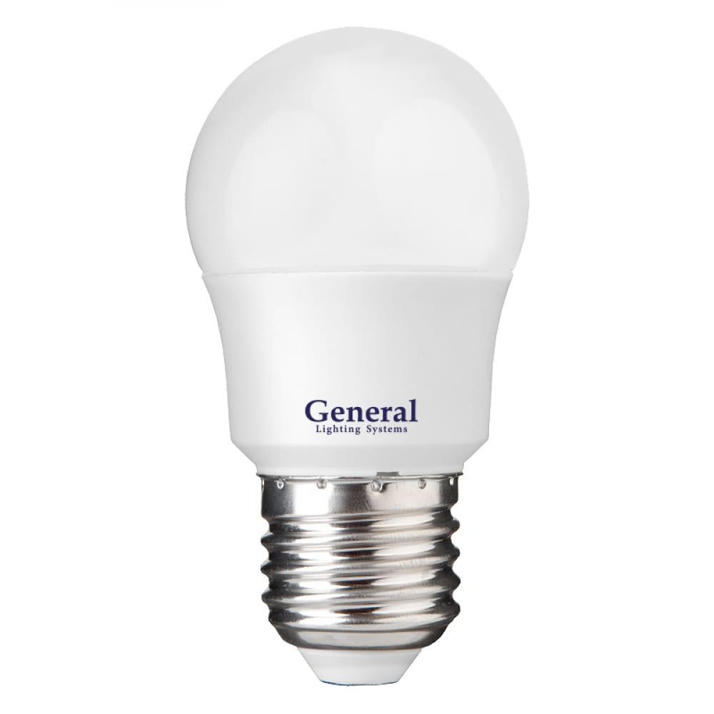 Купить Светодиодная лампа general lighting systems шарик g45f-12w-e27-2700k 641115