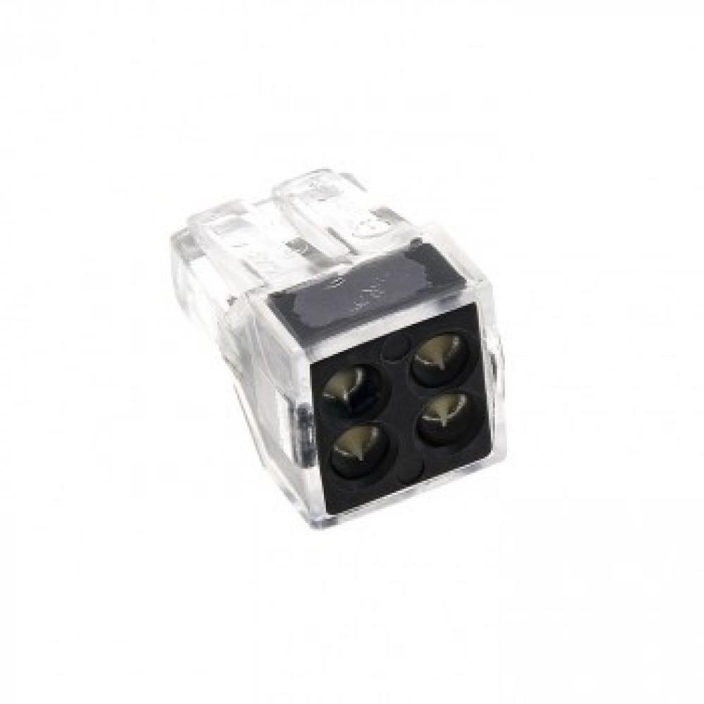Строительно-монтажная клемма ekf смк 773-104, 4 отверстия, 1,0-2,5мм2, 100шт, proxima sq plc-smk-104