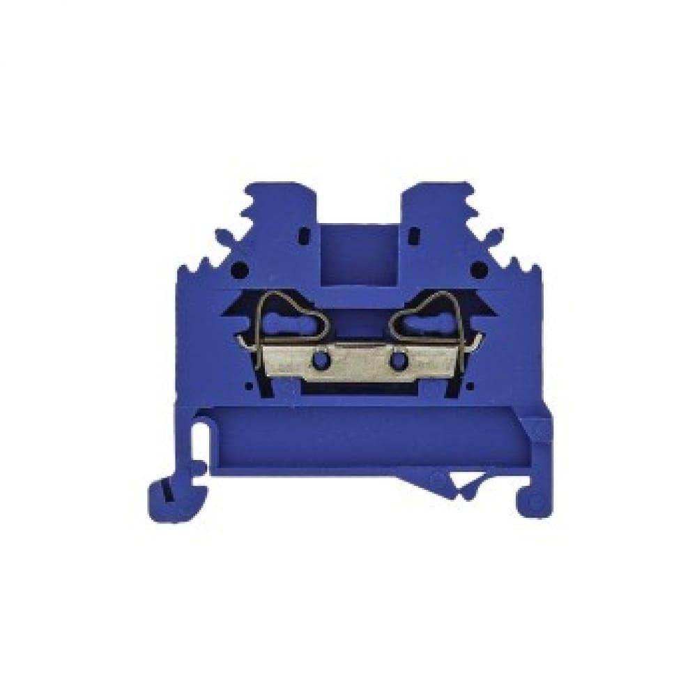 Клеммная колодка ekf самозажимная, jxb-s-6, 41а, синяя, proxima sq plc-jxb-s-6b