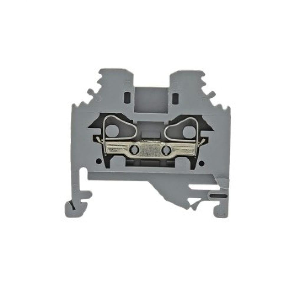 Клеммная колодка ekf самозажимная, jxb-s-6, 41а, серая, proxima sq plc-jxb-s-6g