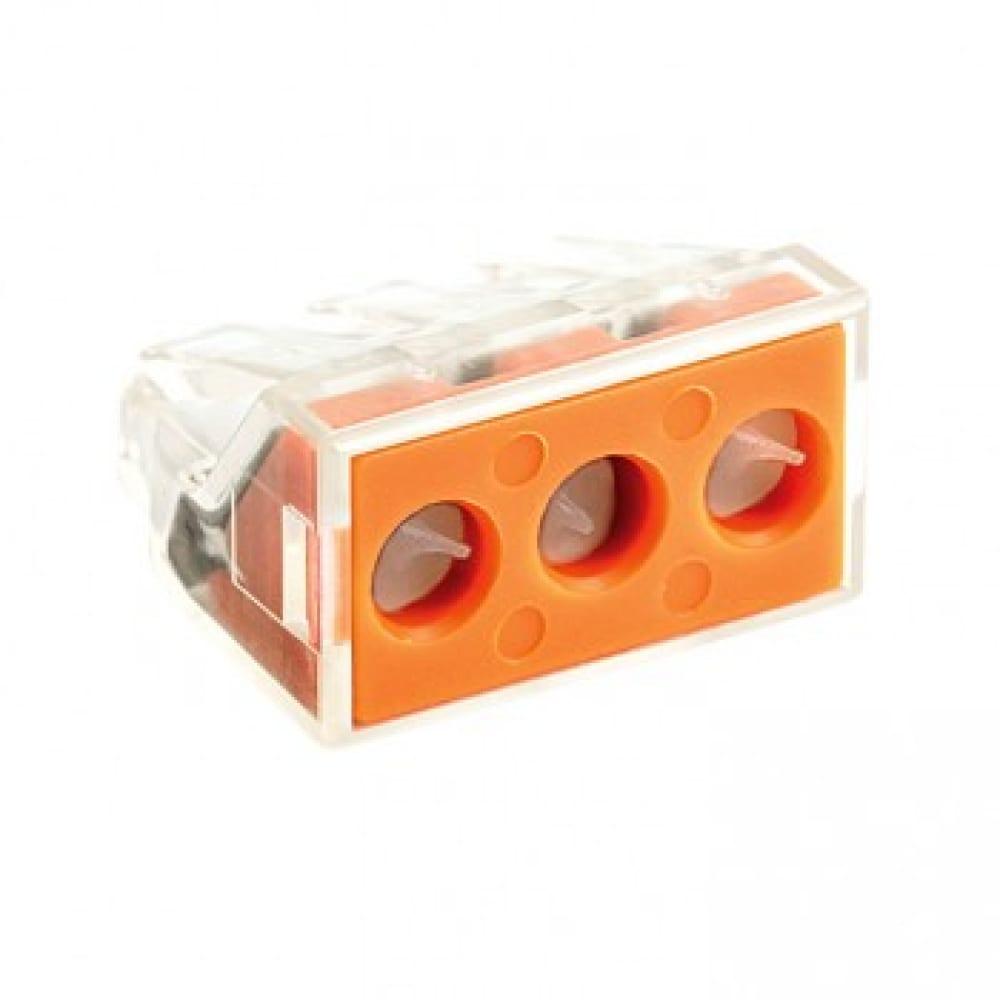 Клемма ekf смк 773-173, с пастой, 3 отверстия, 2,5-6,0мм2, упаковка 50шт, proxima sq plc-smk-773-173