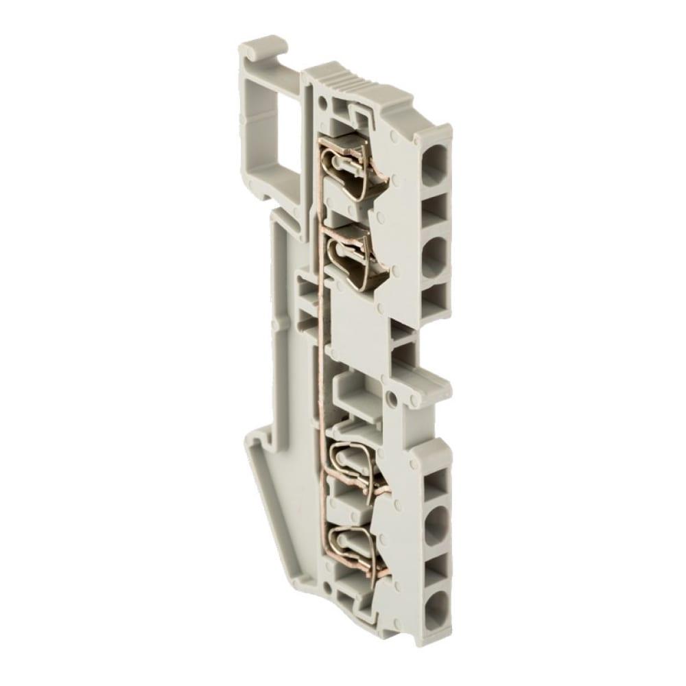 Клеммная самозажимная колодка ekf jxb-st-4 40а 4 вывода серая proxima sqplc-jxb-st-4-4