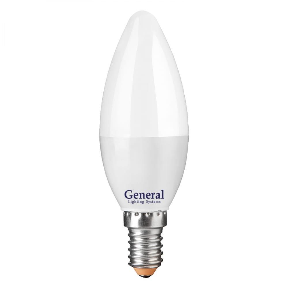 Купить Светодиодная лампа general lighting systems свеча cf-10w-e14-4500к 682800