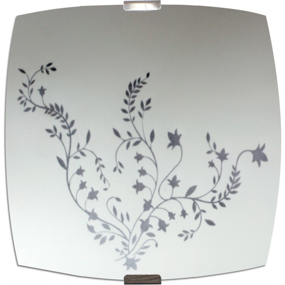 Купить Светильник элетех нежность нпб 09-60-003 м83 иу 300x300 мм матовый белый/клипсы штамп металлик 1005205718