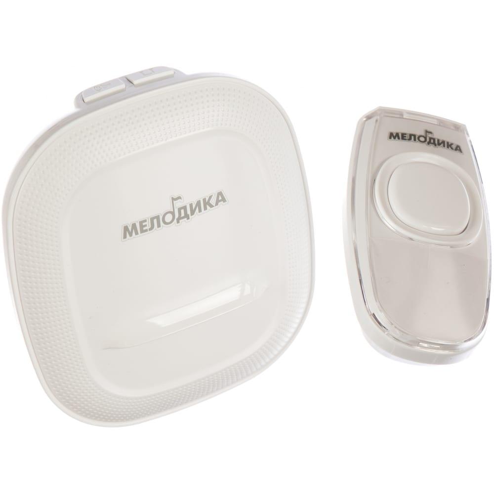 Звонок на батарейках мелодика б250v.2 белый беспроводной 36 мелодий 4 уровня громкости влагозащитная кнопка 4606400420330