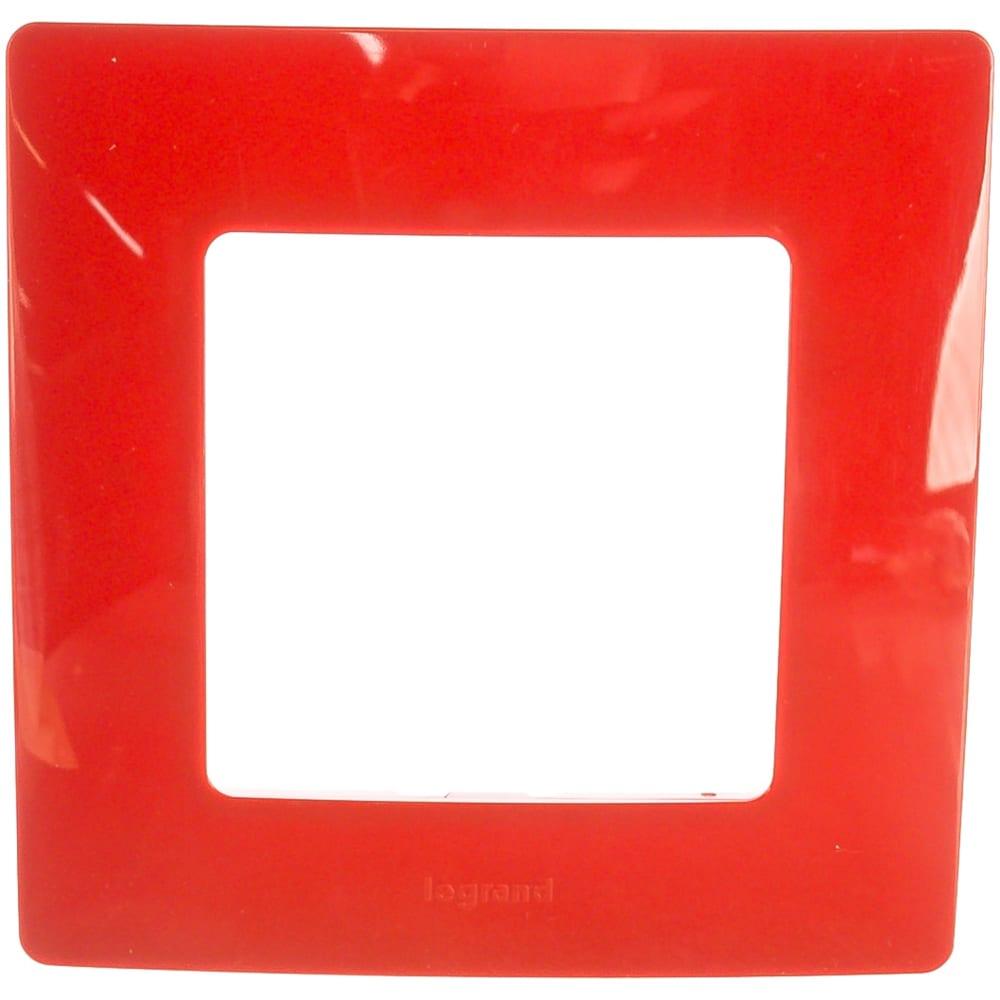 Купить Рамка legrand etika 1 пост красный leg 672531