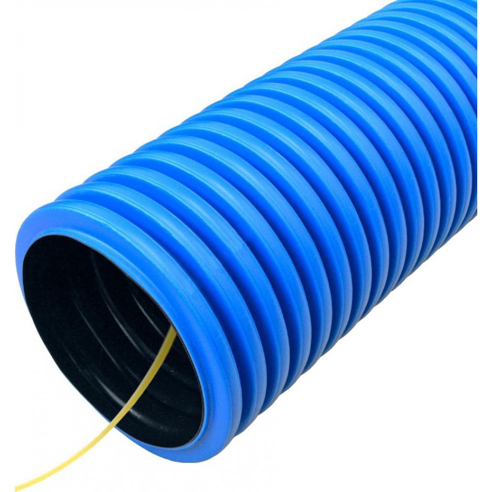 Купить Гофрированная труба промрукав двустенная пнд гибкая тип 450 sn18 с зондом синяя д63 pr15.0116