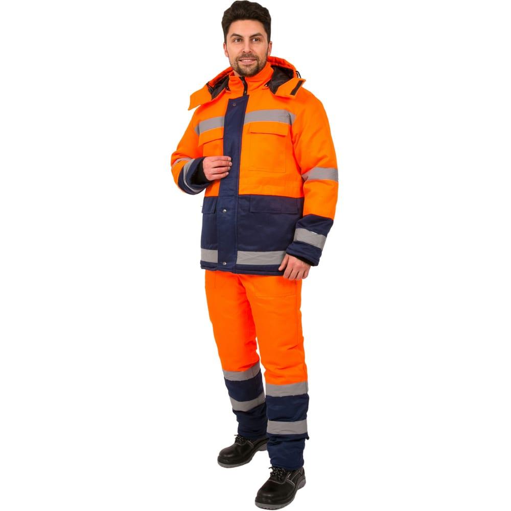 Купить Зимний костюм факел дорожник оранжевый/темно-синий, р. 44-46, рост 182-188 87470081.002