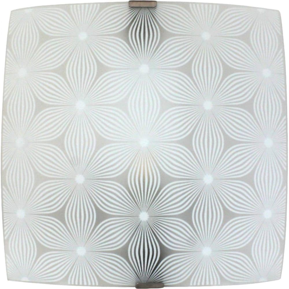 Светильник элетех васильки нпб 09-60-003 м83 300х300 мм матовый белый/клипсы штамп металлик иу 1005209265
